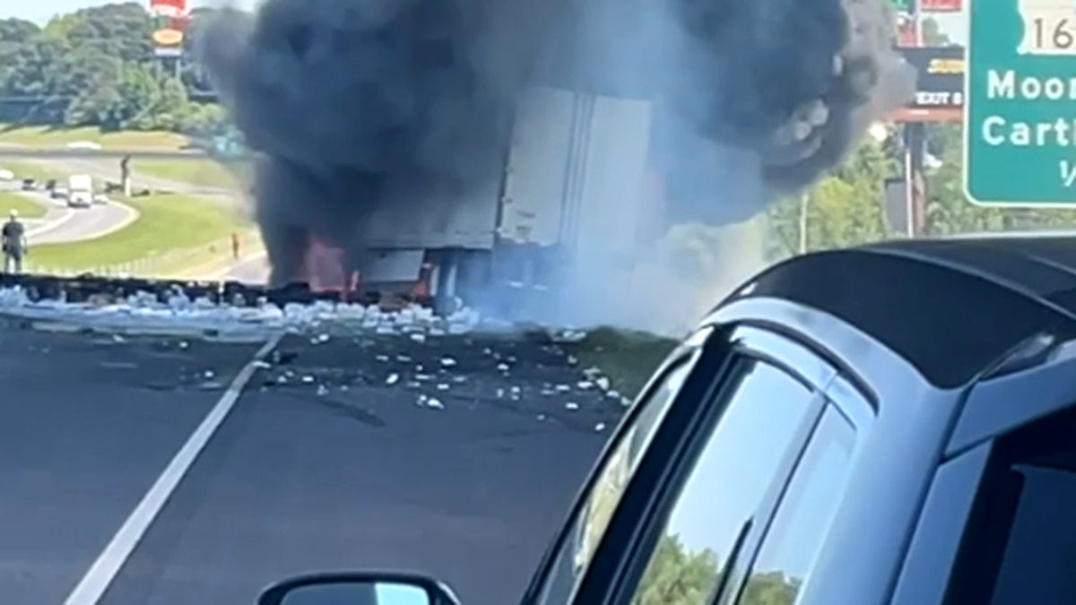 Two 18-wheelers were reportedly involved in a fiery wreck on I-20 E in Greenwood Friday, May 7,...