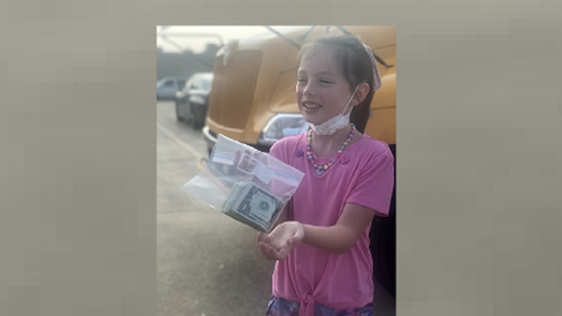 Milla Stockman, 8, donated her allowance to help buy school supplies for other students.