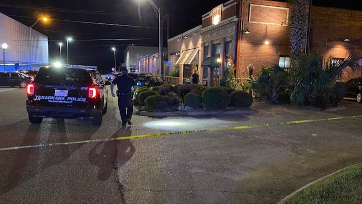 Police respond to an officer-involved shooting near Zapata's in downtown Texarkana, Ark. on...