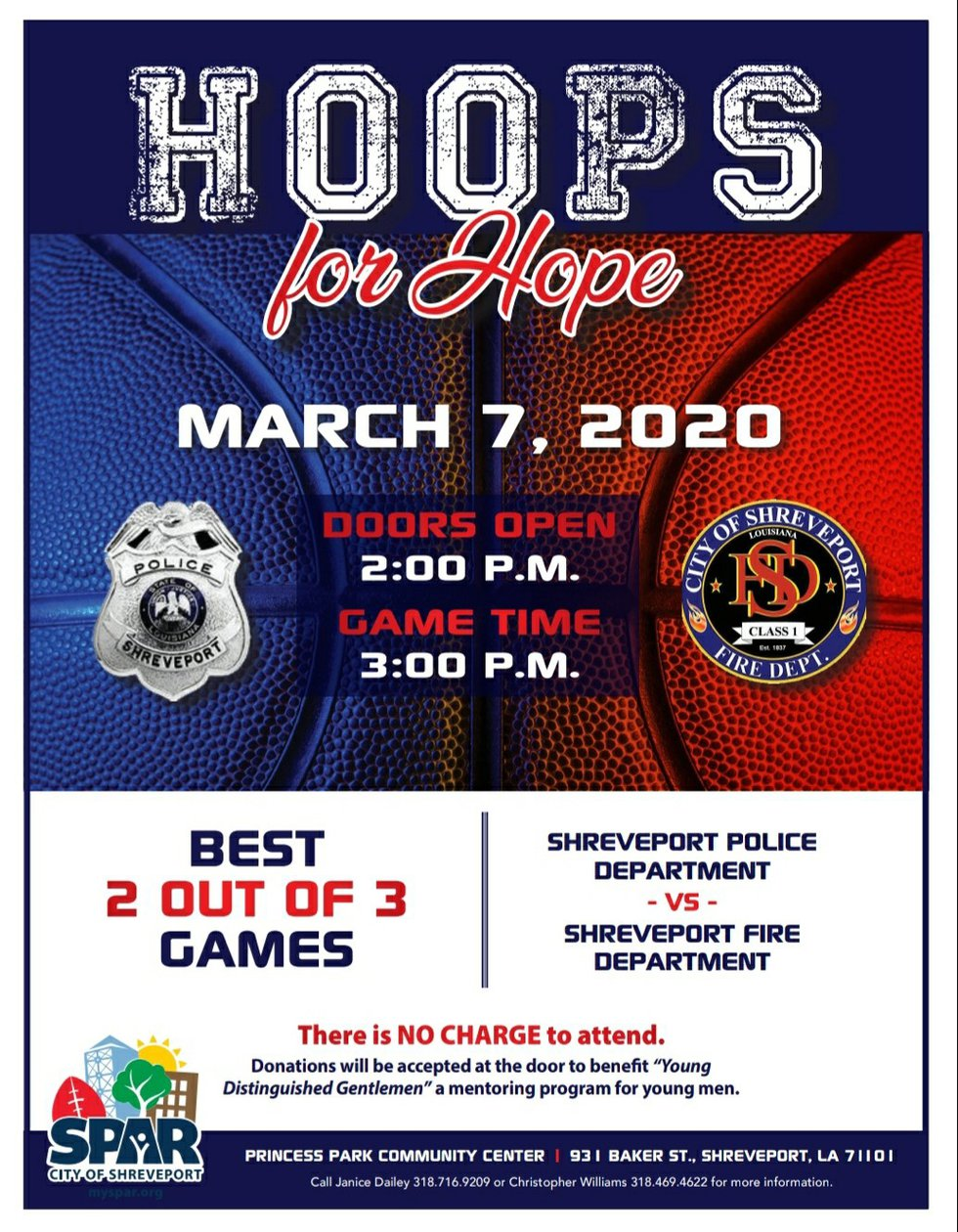 'Hoops for Hope' is March 7 at 2pm at Princess Park Community Center