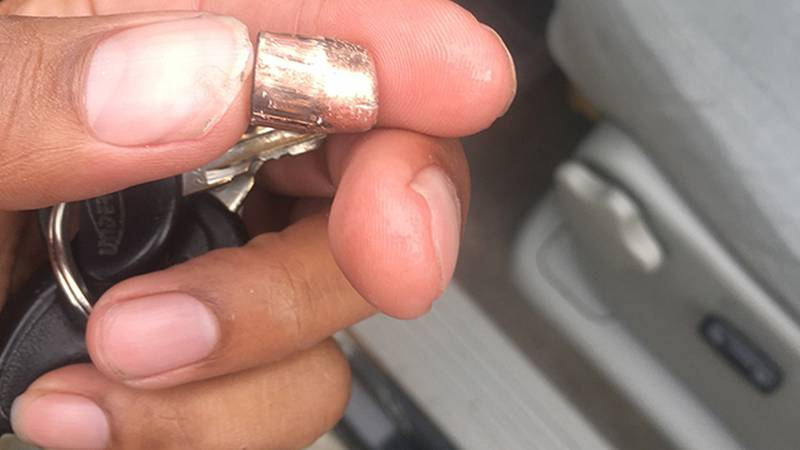 A man living off Sherwood Forest Boulevard says this bullet fell through his sunroof on New...