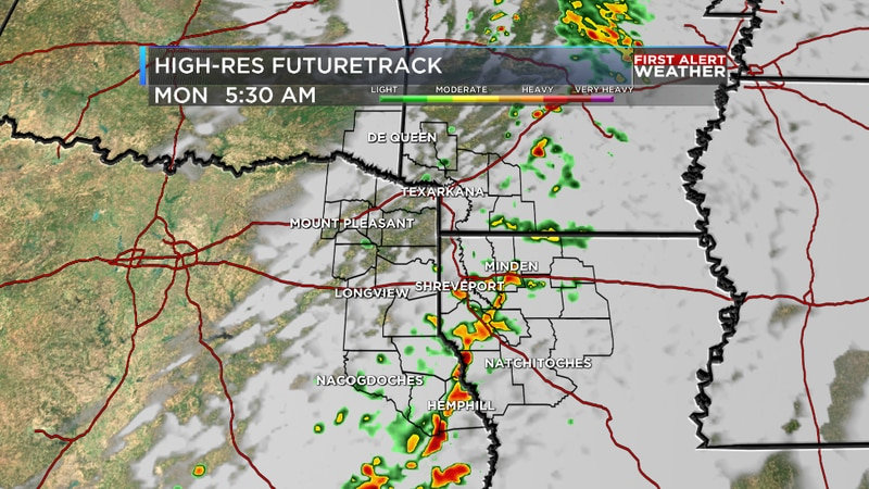 We are tracking early morning showers and storms followed by clearing skies this afternoon for...