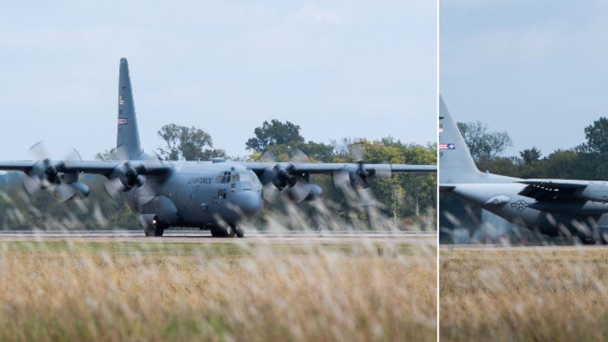 A C-130 Hercules assigned to the 910th Airlift Wing at Youngstown Air Reserve Station, in...