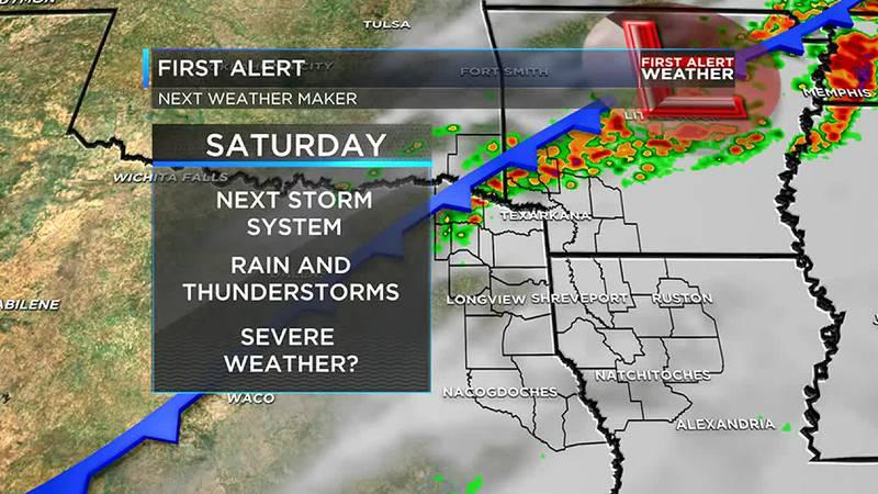 A few weekend storms