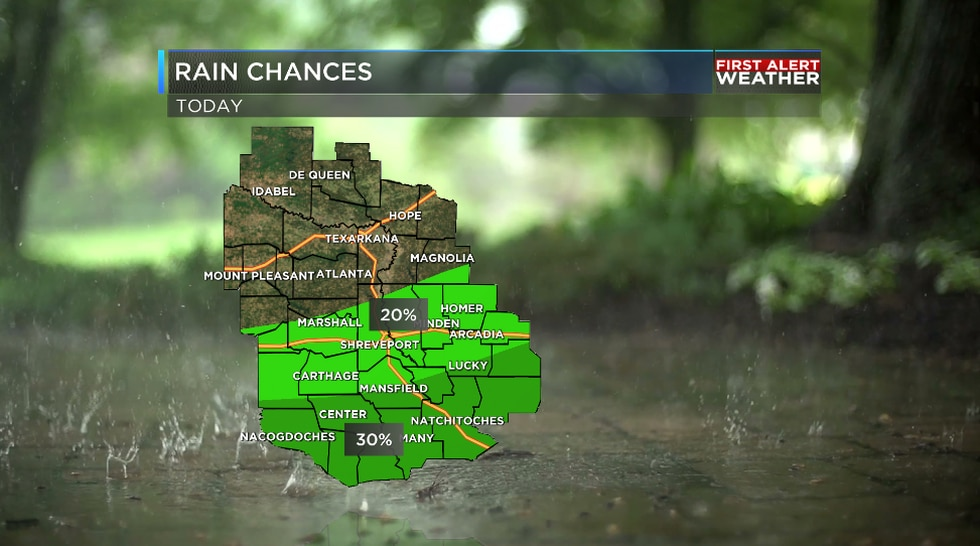We will see some showers develop during the afternoon hours due to the muggy and unstable air.