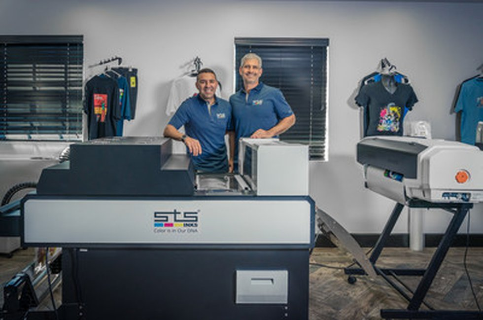 STS Inks Founder Shahar Turgeman and business partner Adam M. Shafran stand in front of the...