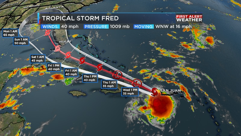 We are tracking our newest tropical storm as it is expected to make landfall in the Dominican...