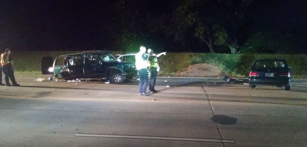 A wreck on 70th Street near E. Bert Kouns Industrial Loop sent five people to the hospital...