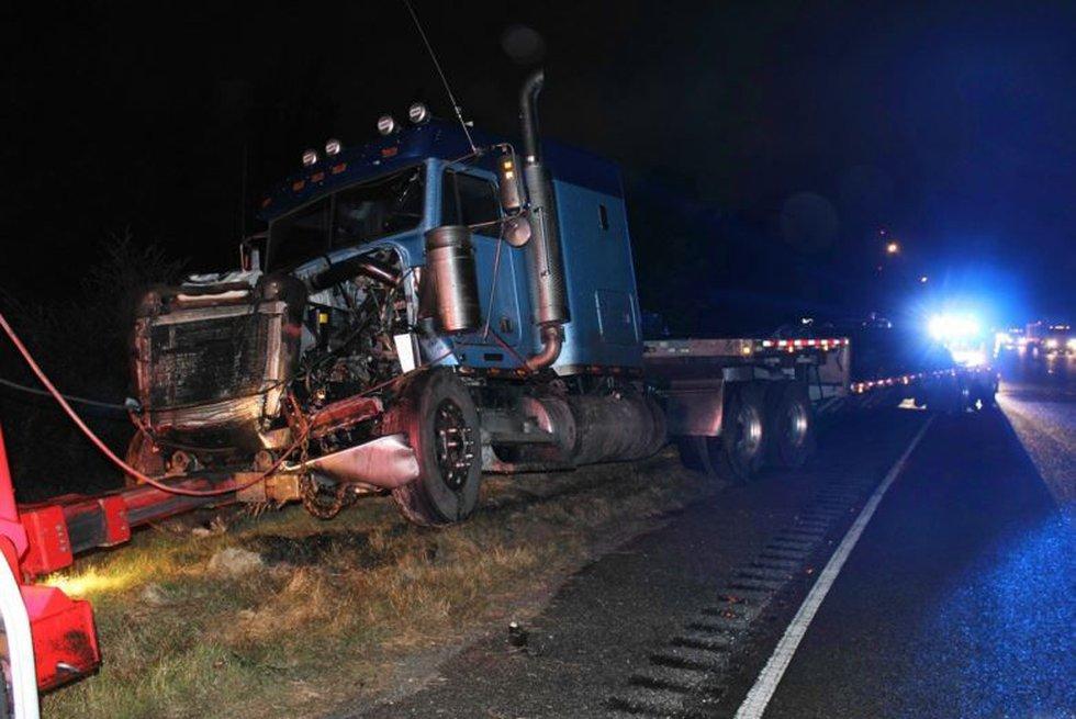 The wreck involved an 18-wheeler and a minivan. (Source: HopePrescott.com)