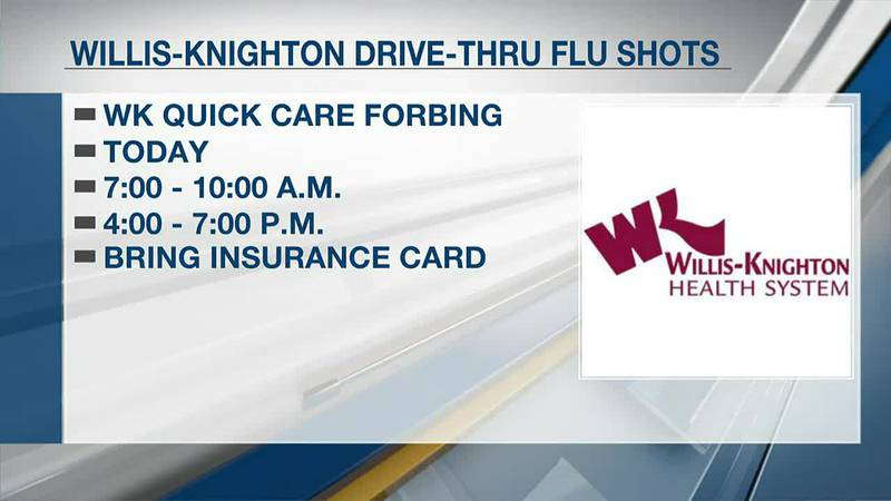 Willis-Knighton provides flu shots during drive-through clinic at W-K Quick Care Forbing