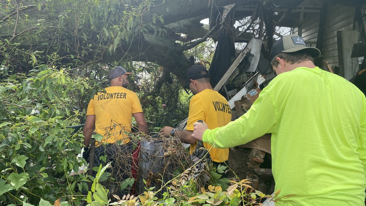 The Shreveport Volunteer Network has been assisting with storm recovery efforts in south...