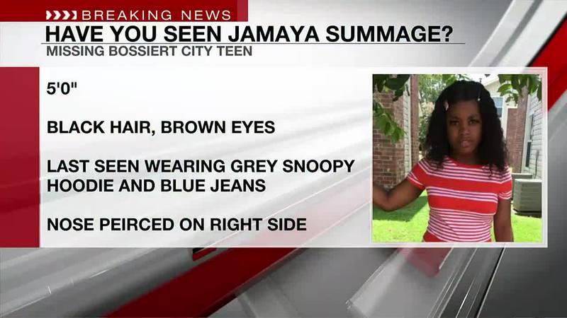 Bossier City police seek help finding 13-year-old girl Jamaya Summage