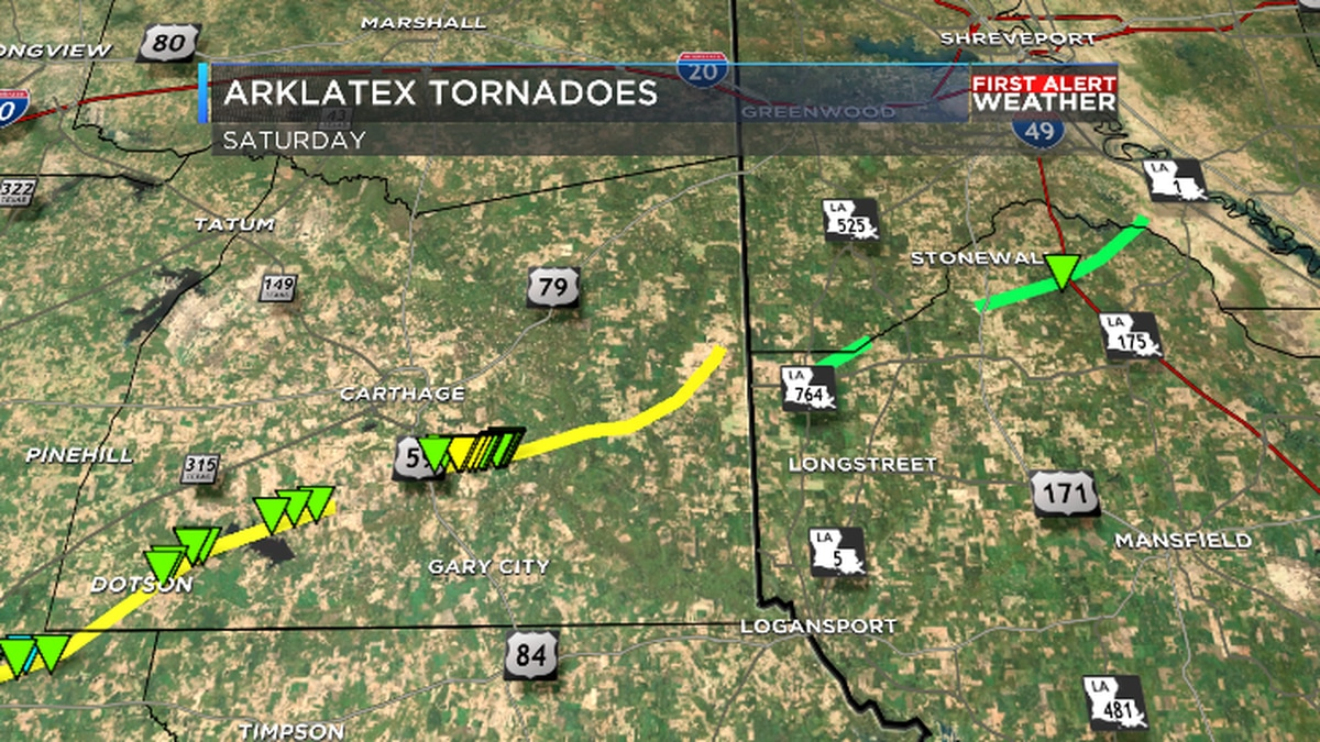 One thunderstorm produced at least 4 tornadoes in the ArkLaTex