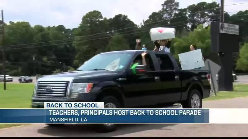 Teachers, principals host back to school parade
