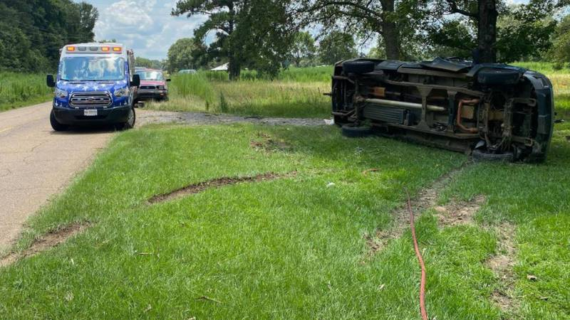 A pregnant woman and an 11-year-old boy were injured when this vehicle crashed Sunday, Aug. 1...