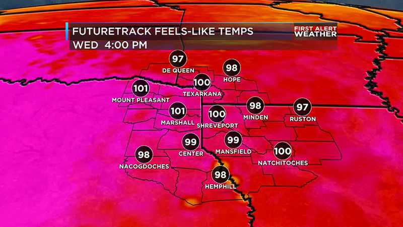 With no rain to cool temperatures down, it will get hot