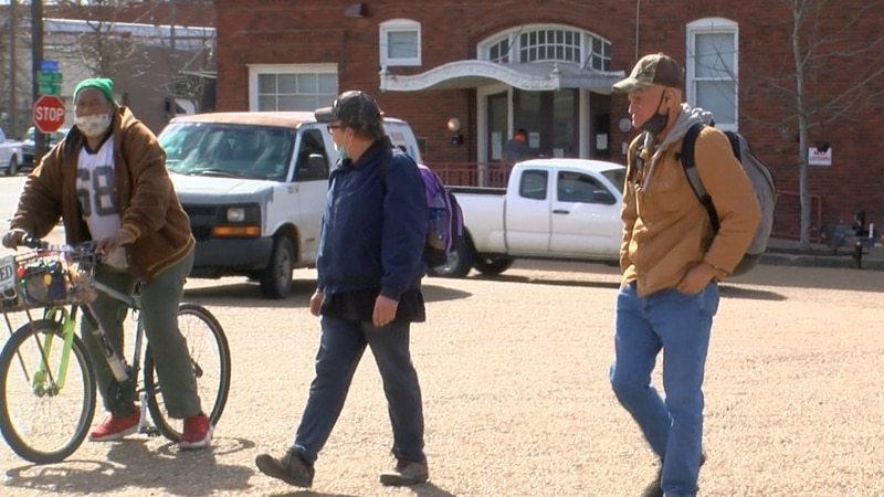 The view of poverty from the streets of Shreveport, with the help of Danny Gilbert (right) and...