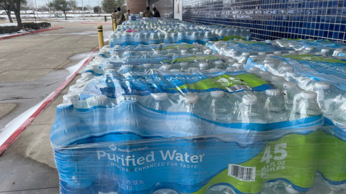 Water distribution site in Bossier City.
