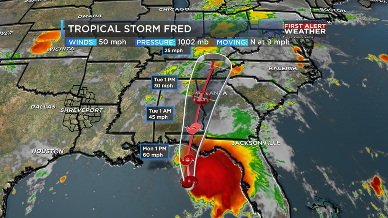 Tropical Storm Fred is expected to landfall in Florida later today.