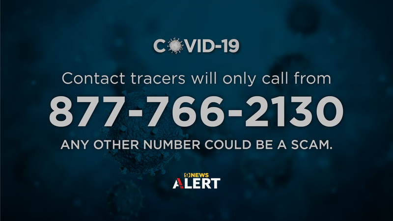 This is the only phone number that will be used by contact tracers in Louisiana.