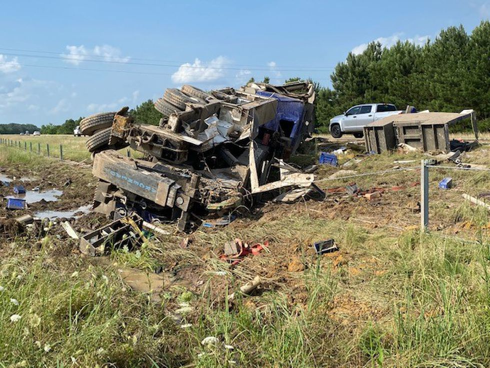 One person was airlifted to a Shreveport hospital after a wreck on I-49 near Fouke, Ark. on...
