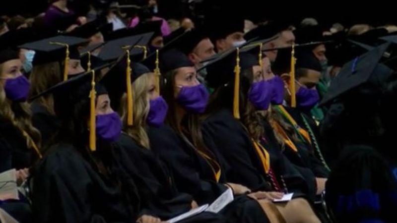 Students graduate from LSU Health Shreveport.