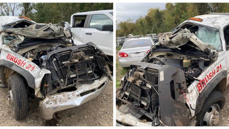 Assistant Chief Lucas Stephenson was responding to a crash around 9:30 p.m. on Dooley Ferry...