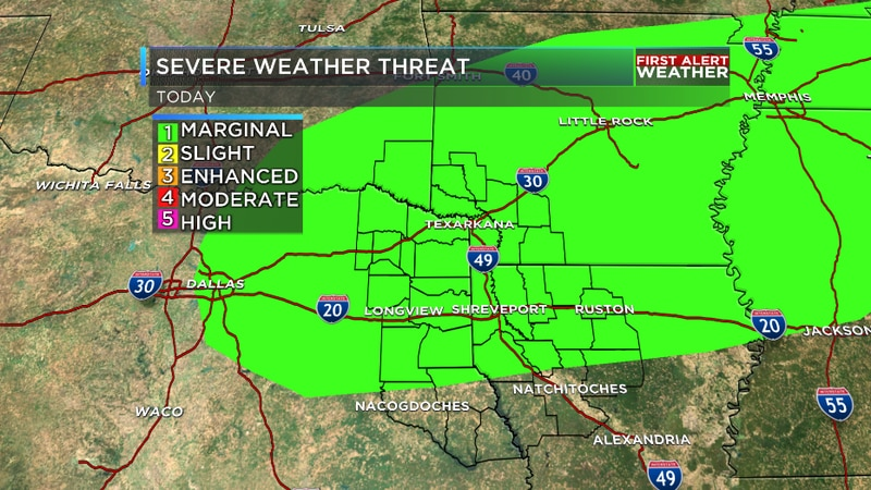We are tracking isolated strong and severe storms tonight as a cold front starts moving through.
