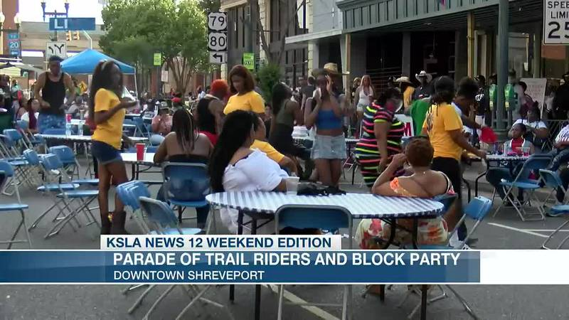 Parade of trail riders & block party