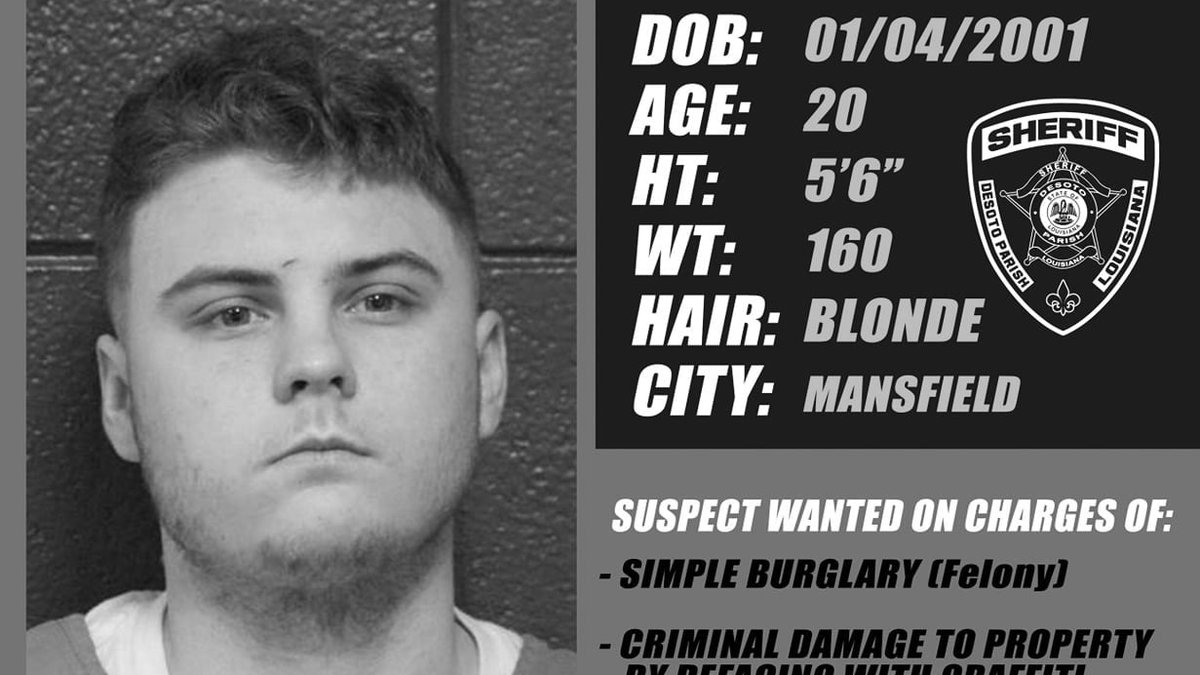 Harley Clay Giecek was taken into custody July 28, 2021 after reportedly spray painting...