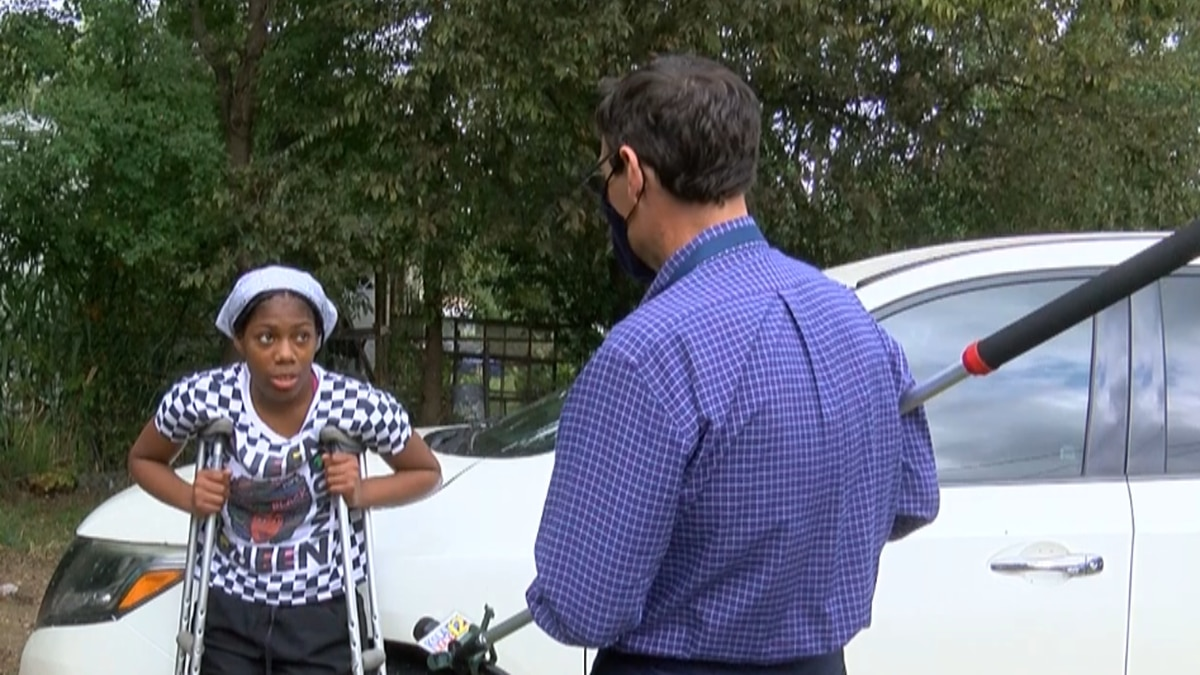 Shooting survivor, 16-year-old Kaliah Lewis speaks with KSLA as she returns home for the first...