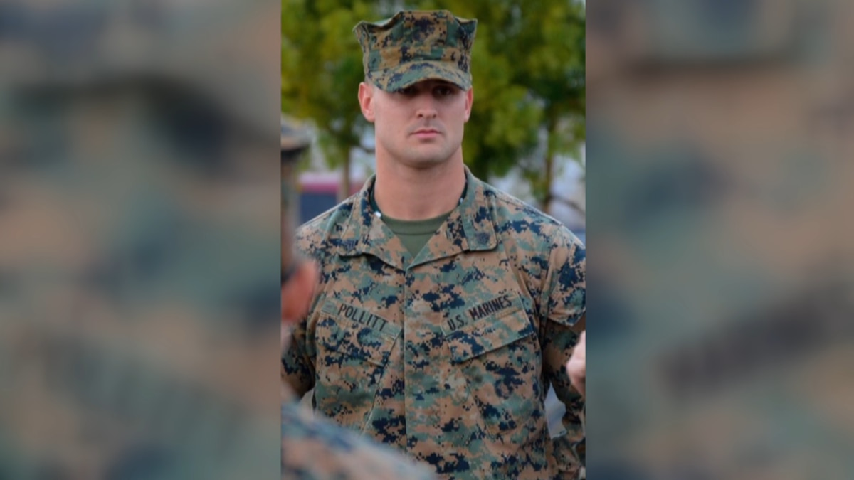 Pollitt served 4 years in the Marine Corps before becoming a BCPD officer.