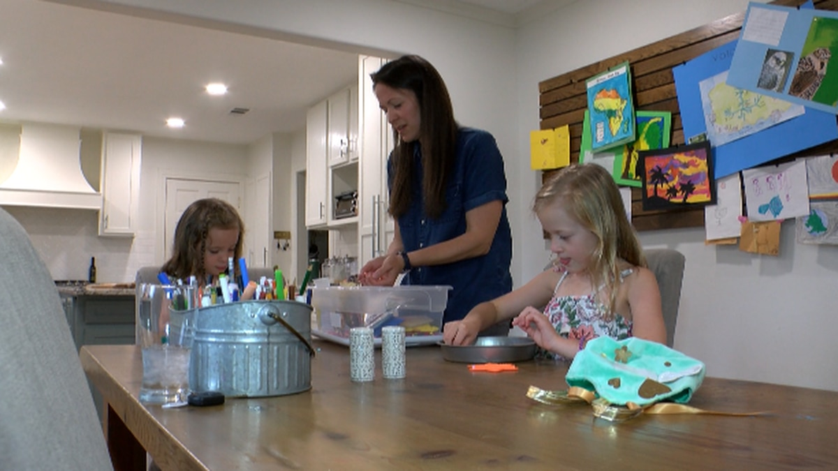 Diana Reneau spends precious time with her two daughters at home in Shreveport before the...