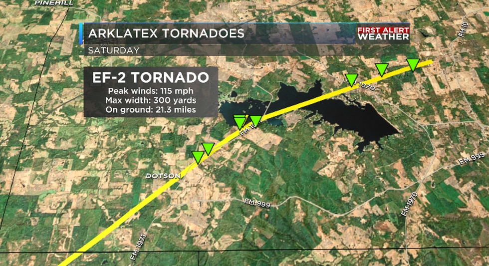EF-2 tornado in Panola County, Texas