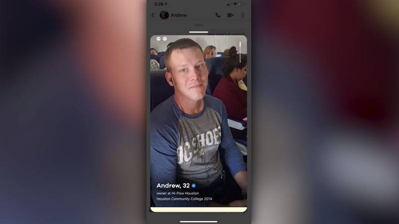 Prosecutors say Andrew Taake, of Texas, used the online dating app Bumble while at the U.S....