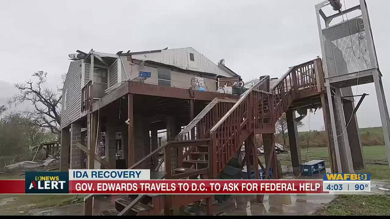 Gov. Edwards travels to nation's capital to ask for federal help