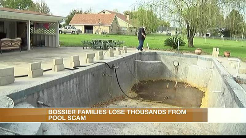 Dozens of Bossier Parish families say they were scammed by pool building company