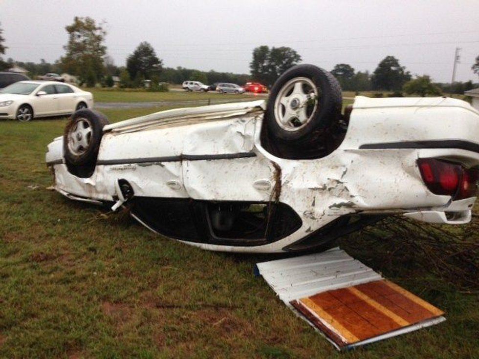 Possible tornado landed in Ashdown, AR. early Monday.