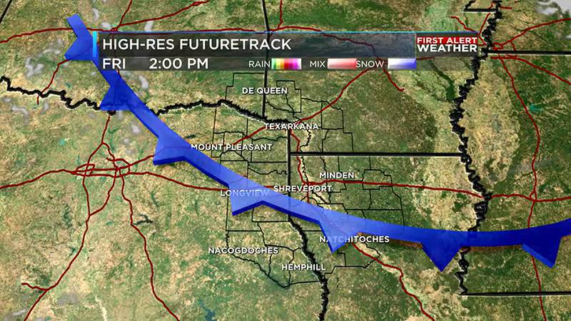 Thanks to the front today we are tracking a one day drop in the mugginess Friday followed by a...