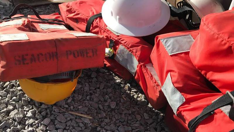 Nine life vests from the capsized Seaor Lift Boat were discovered in the area near Chauvin
