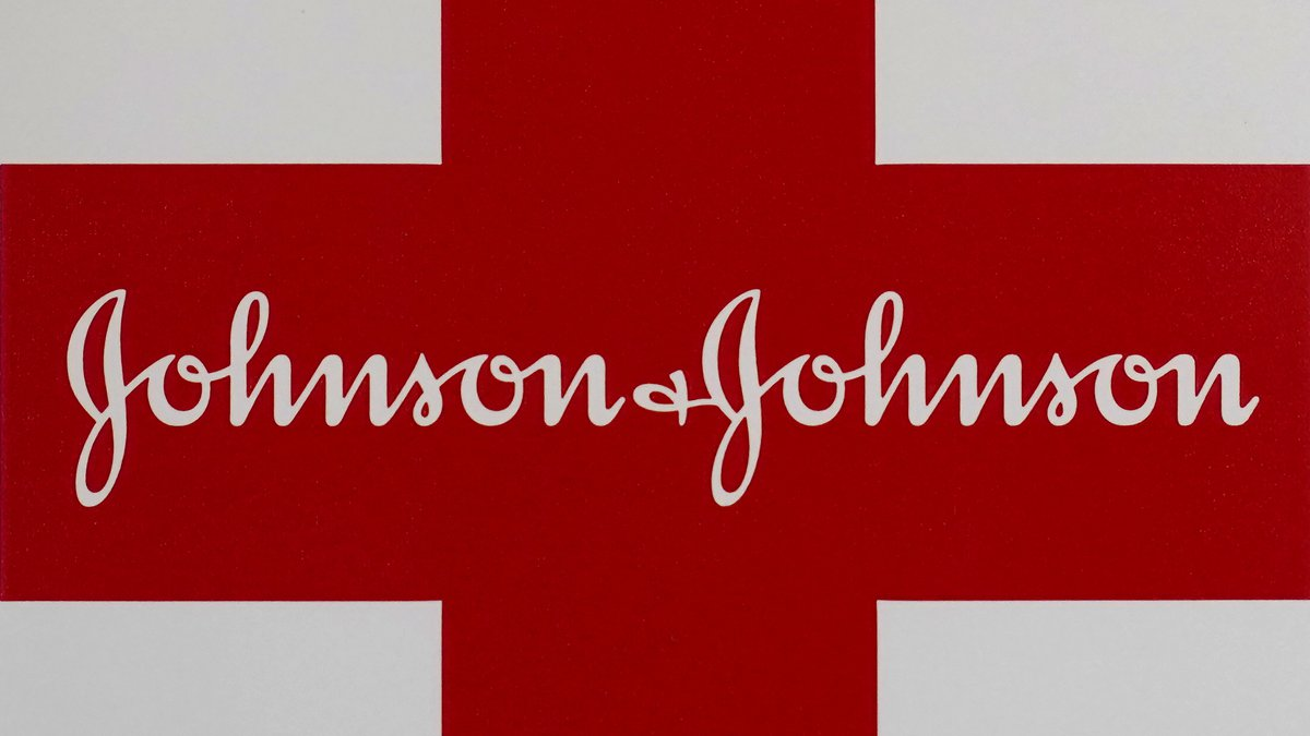 This Feb. 24, 2021 photo shows a Johnson & Johnson logo on the exterior of a first aid kit in...