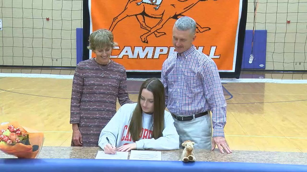 Chloe Cook signed with Campbell back in November of 2019 (Source: KTRE Sports)