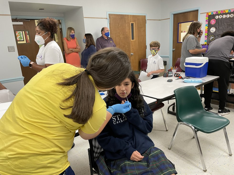 LSU Health Shreveport is now performing COVID-19 testing in schools in the area.