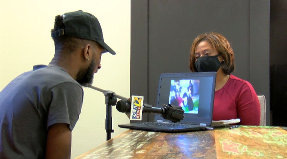Tommie McGlothen, III viewing video of dad's altercation with police