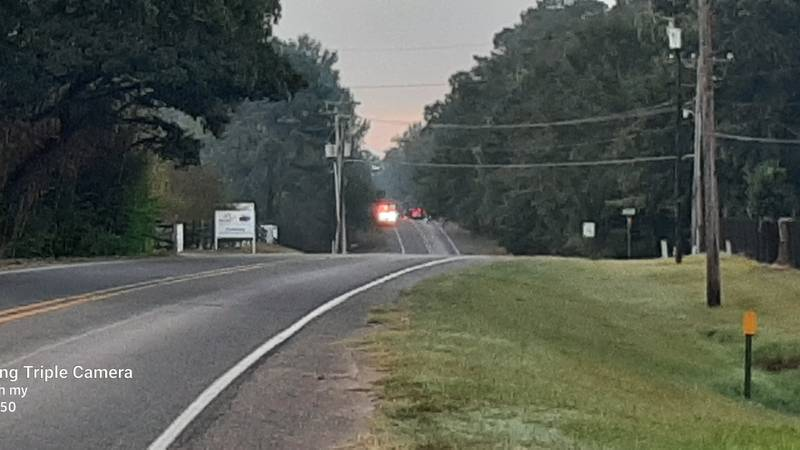 Greenwood-springridge road at blue knoll is currently closed as police respond to the accident.
