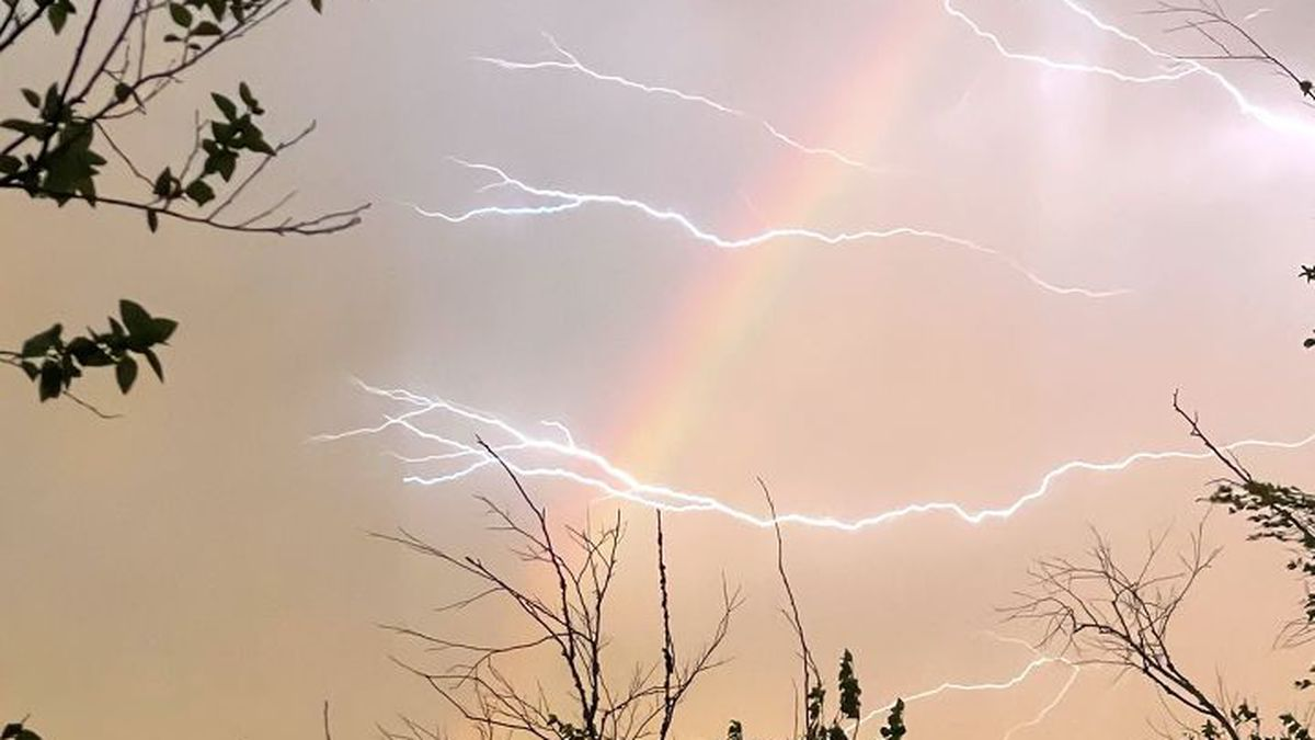 WOW, LIGHTNING AND A RAINBOW!: KSLA News 12 viewer Sherry Montoya says she caught this image on...