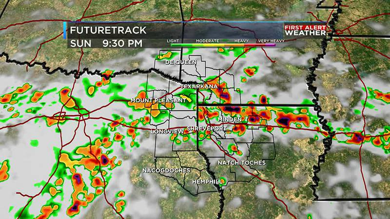 rain and storms tonight and back again for Monday