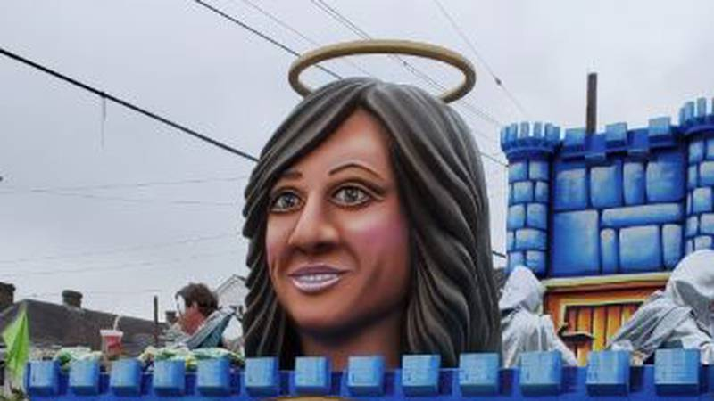The Krewe of King Arthur honored FOX 8's Nancy Parker during Sunday's parade as they rode the...