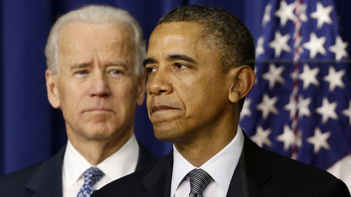 President Barack Obama, accompanied by Vice President  Joe Biden, talks about proposals to...