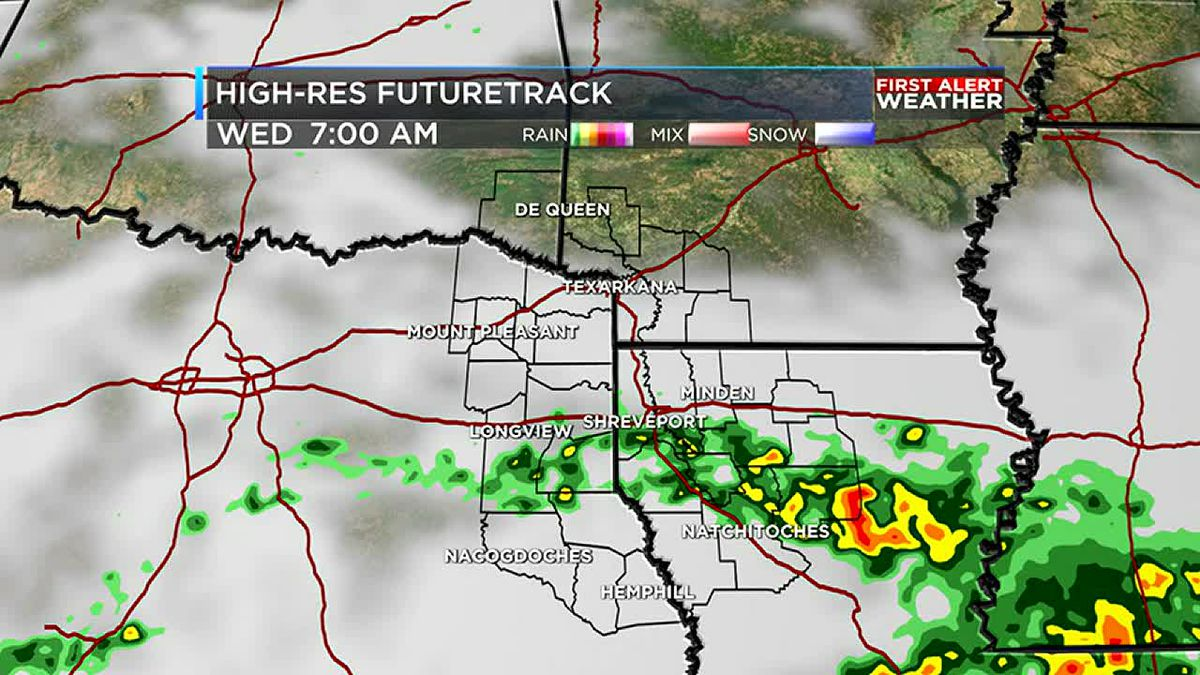 Showers hang on into Wednesday